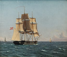 The Corvette Najaden under Sail