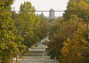 Edgewood Park Historic District - Edgewood Ave. descending to downtown New Haven.