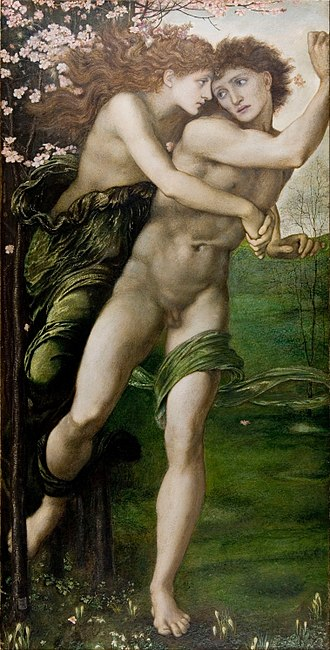 Demophon of Athens - Phyllis and Demophoön by Edward Burne-Jones (1870)