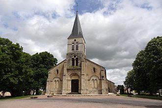 Boucé, Allier - The church in Boucé