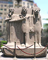 Egyptian Museum - Ramses II Ptah and Sekhmet.jpg