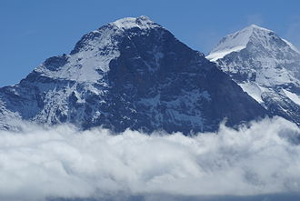 Eiger - The Eiger from the north side (and Mönch behind)