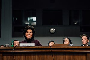 Elaine Chao - Chao at her confirmation hearing to be Secretary of Transportation