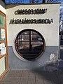 Elementary school, name sign and barred window, 2019 Rákosliget.jpg