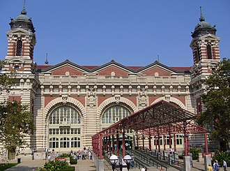 John Charles Tarsney - Image: Ellis Island Entrance adj 2