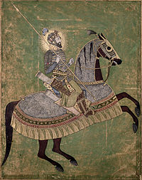 Emperor Aurangzeb on horseback.jpg