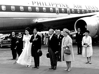 Ferdinand Marcos - Marcos with Japanese Emperor Hirohito in 1966