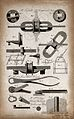 Engineering; an axle and some tools. Engraving by E. Kennion Wellcome V0024567ER.jpg