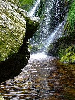Enniskerry Waterfall, Co Wicklow - geograph.org.uk - 886120