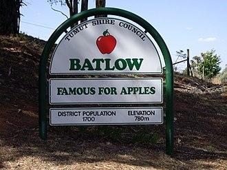 Batlow, New South Wales - Entering Batlow
