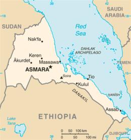 Eritrea - Mappa