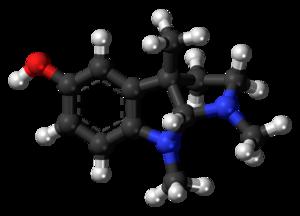 Eseroline - Image: Eseroline molecule ball