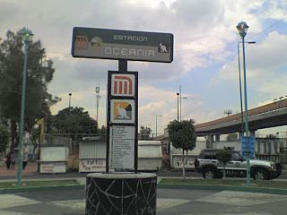 Metro Oceanía Mexico City metro station