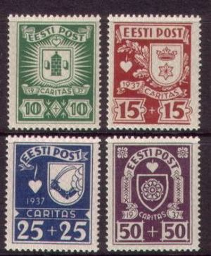 Postage stamps and postal history of Estonia - Estonian stamps: 1937. Caritas issues.