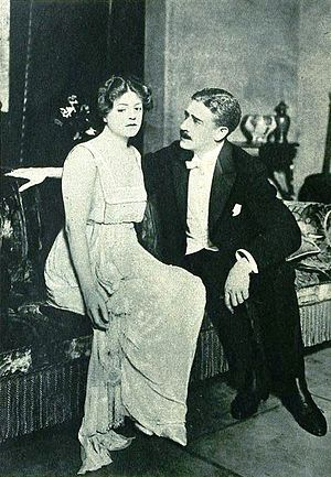 Claude King (English actor) - Ethel Barrymore and Claude King in Declassee (1919)