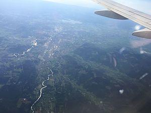 Lane County, Oregon - Aerial view of the Eugene-Springfield metropolitan area