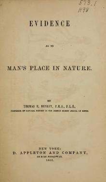 Evidence as to Man's Place in Nature.djvu
