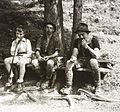 Excursion, tourist, leather pants, folk costume Fortepan 83918.jpg