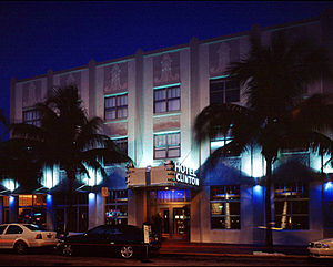 Clinton Hotel Miami Beach - Image: Ext.Nite