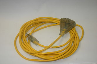 Extension cord - Yellow NEMA 5-15 extension cord
