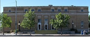 United States Post Office and Customs House–Douglas Main - Image: Exterior of the Douglas, AZ post office