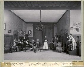 Första fiolen, Dramatiska teatern 1900. Föreställningsbild - SMV - H10 040.tif