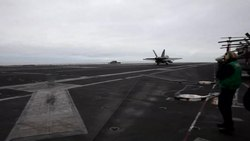 File:F-18 - A 3-wire landing.ogv
