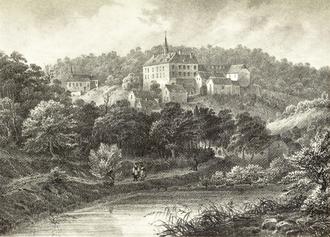 Fischbach Castle - Drawing by Nicolas Liez (1834)