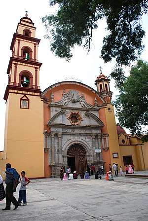 Temoaya - Facade of the Sanctuary of Señor Santiago