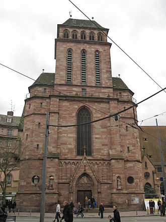 Old Saint Peter's Church, Strasbourg - Façade of Catholic church