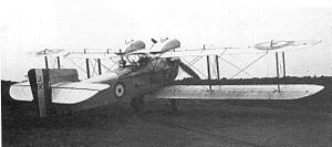 Fairey Fawn - First prototype Fawn with lengthened fuselage, revised tail and overhead tanks; the basis for the production Fawn Mk II