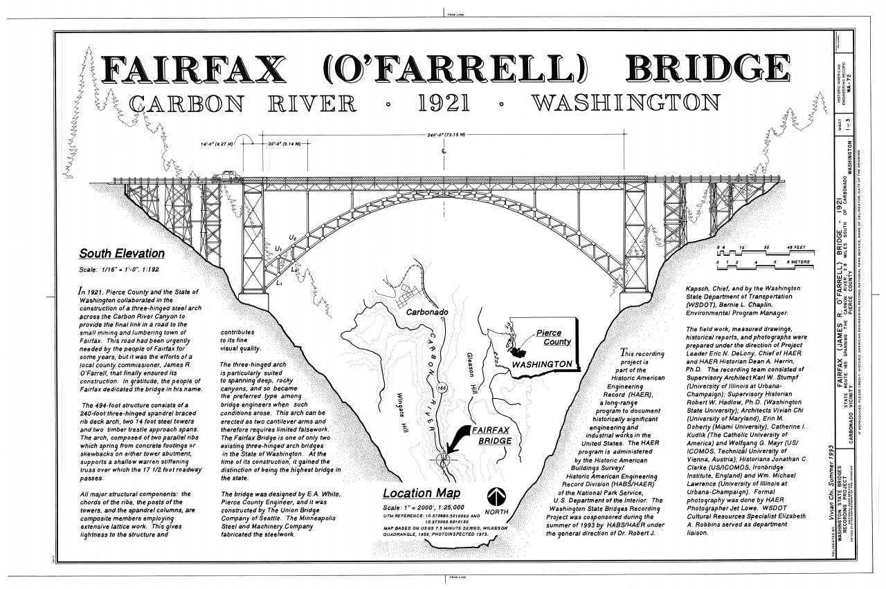 Fairfax Bridge Washington Wikiwand Warren Truss Diagram Component Inside