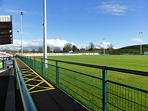 Stamford A.F.C. - The new pitch at the Borderville Sports Centre