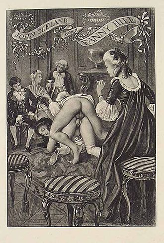 Fanny Hill - 1906 illustration by Édouard-Henri Avril from a French edition of Fanny Hill