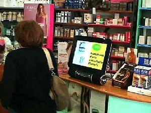 Digital Signage in a pharmacy store.