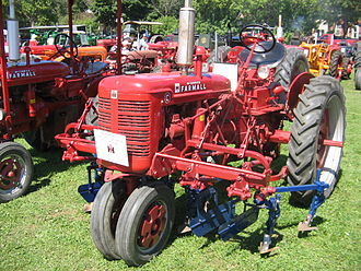 Cultivator - 1949 Farmall C with C-254-A two-row cultivator