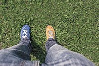 Feet of the photographer with mismatched shoes.jpg