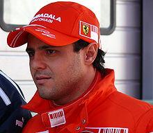 Felipe Massa bär hatt