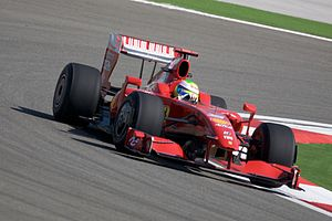 Felipe Massa driving for Scuderia Ferrari at t...