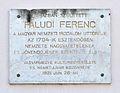 Ferenc Faludi plaque 01, Güssing.jpg