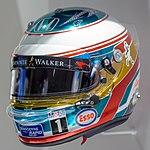 Fernando Alonso 2016 Monaco helmet front-left 2017 Museo Fernando Alonso.jpg