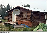 Figure 3- A Building in Beaver, Alaska Serviced with a Satellite Internet Connection (25229851546).jpg