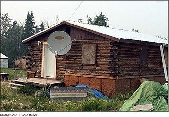 Beaver, Alaska - A house in Beaver, February 2016