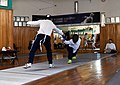 Final stage of a composed attack with a lunge by the Epee fencer Agapitos Papadimitriou.jpg