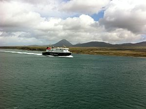Caledonian Maritime Assets - Finlaggan passing the Paps of Jura, May 2011