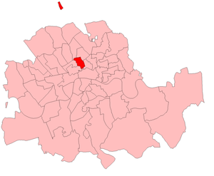 Finsbury Central (UK Parliament constituency) - Finsbury Central in London 1885-1918