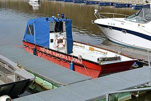 Fire boat on the Danube.JPG