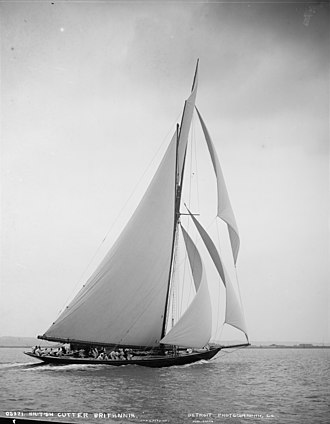 HMY Britannia (Royal Cutter Yacht) - Image: First class rater Britannia