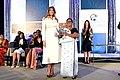 First Lady Melania Trump Poses for a Photo With International Women of Courage Awardee Sandya Eknelygoda of Sri Lanka (33338551220).jpg