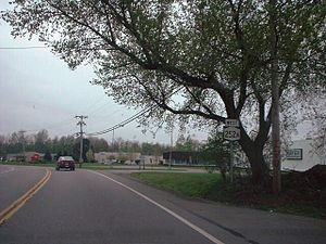 New York State Route 252A - 2000 photo of the first reassurance marker on NY 252A westbound
